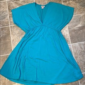 Mossimo swim cover-up sz L (teal)